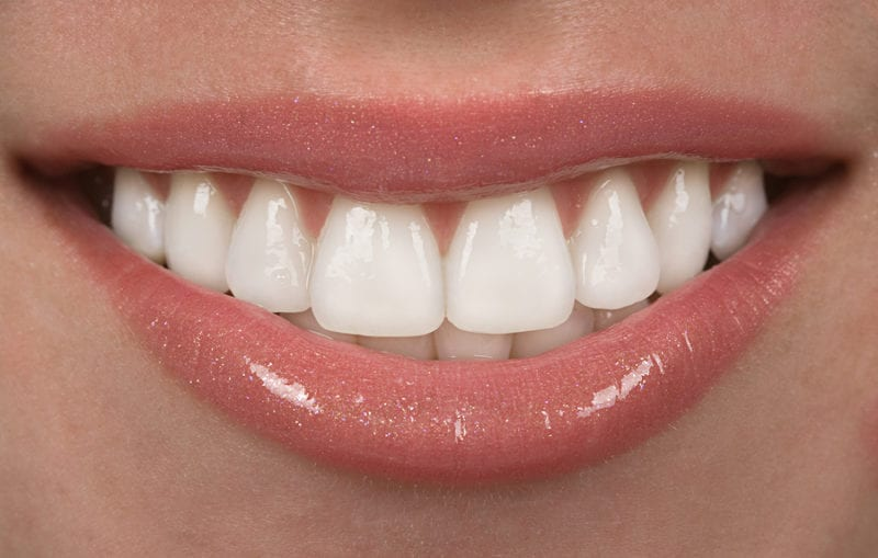 Smiling mouth with beautiful white teeth